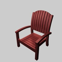 stacking chair x 3d x