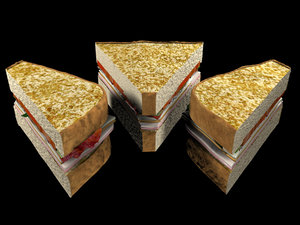 3d model club sandwich