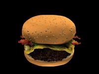burger bun 3d max