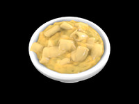 macaroni cheese 3d model