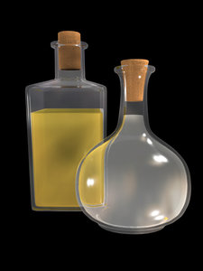 3ds max glass bottle oil vinegar