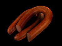 smoked polish sausage 3d model