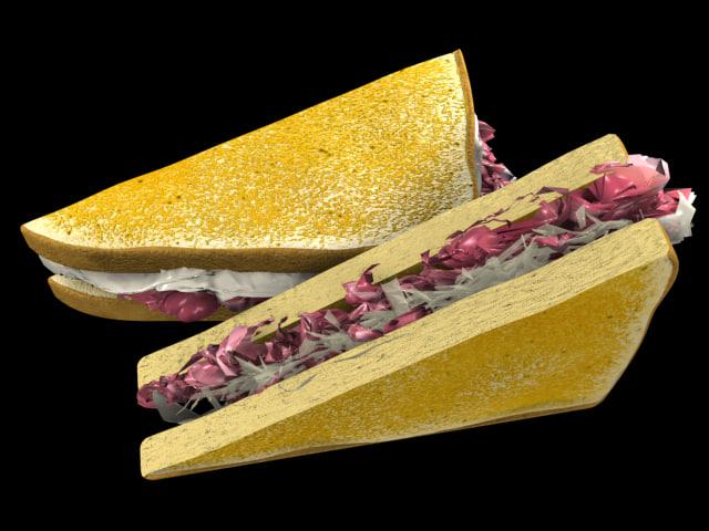 reuben sandwich 3d ma
