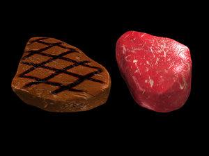 3ds max raw sirloin steak
