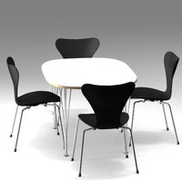 Super ellipse table and 3107 chair Jacobsen MAX.zip