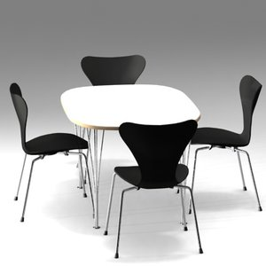 super ellipse table serie 7 3d model