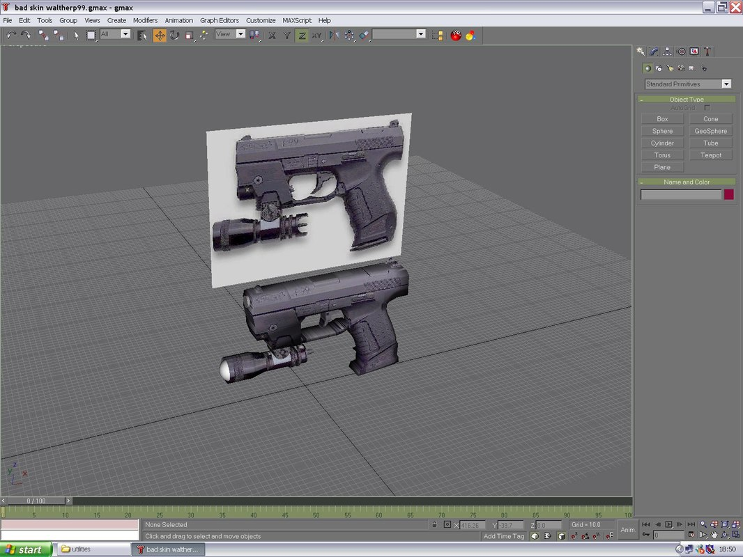 free walther p99 pistol 3d model