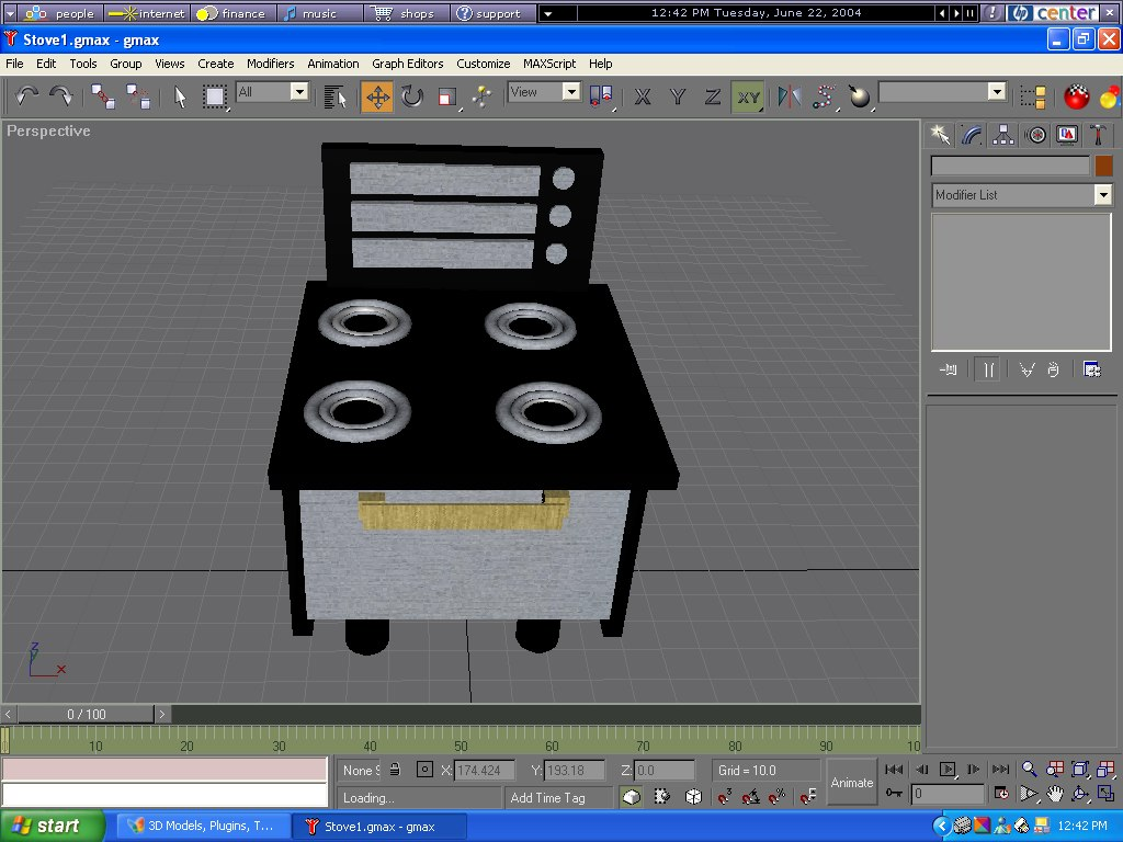 3d stove cooking