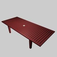picnic table x 3d model
