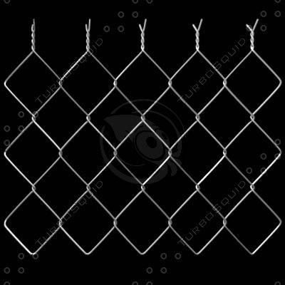 elements chain link fence 3d model