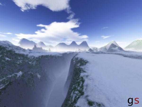 free aspen mountain 3d model