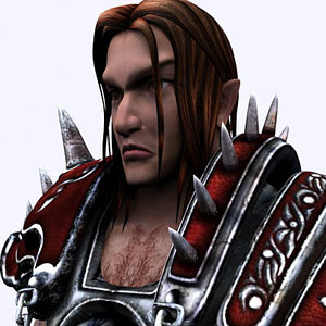 warrior character 3d model