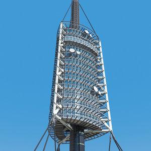 radio transmission tower 3d model