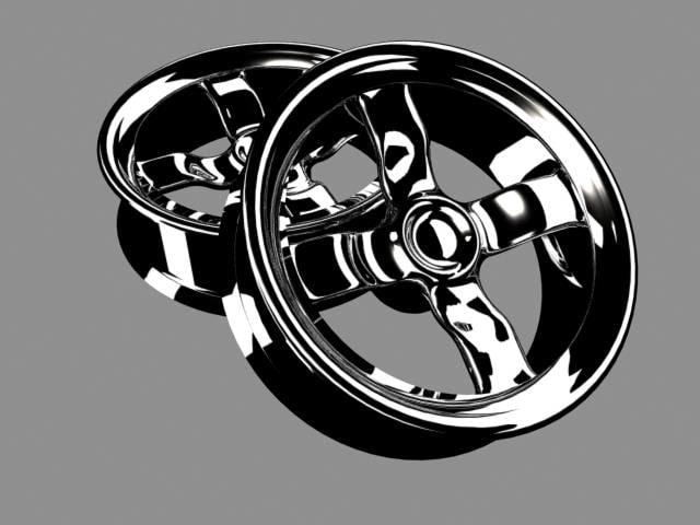 3d model car rims