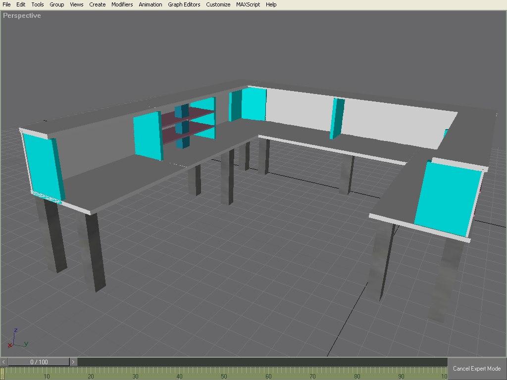 desk storage 3d model
