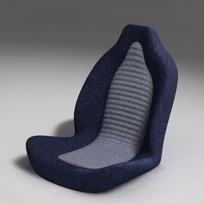 3d racing car seat model