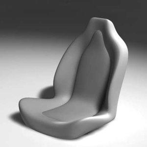 3d model sports seat