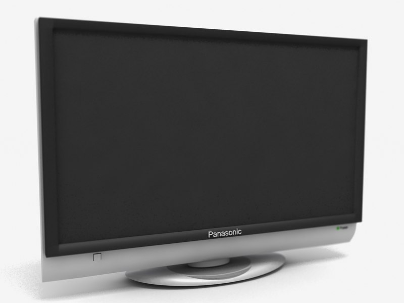 3d model panasonic plasma tv