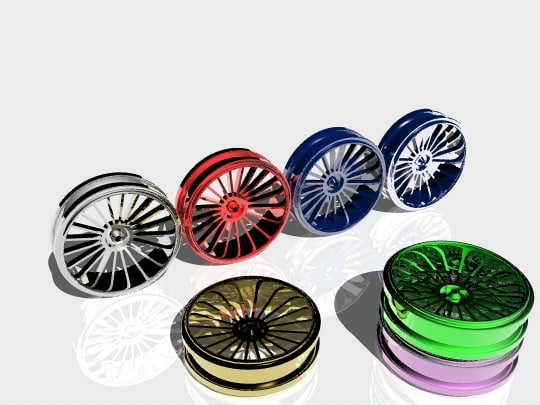 3d 3ds car rims
