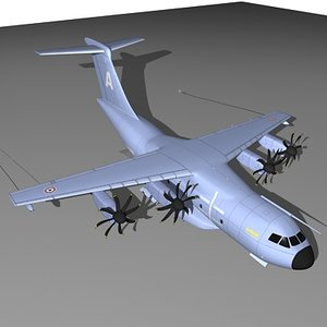 airbus transport airplane 3d model