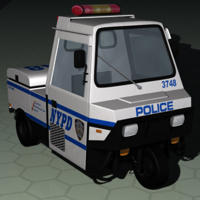 3d model nypd meter-reading police