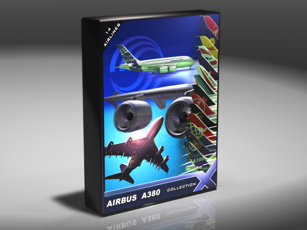 3ds max a380 airlines commercial