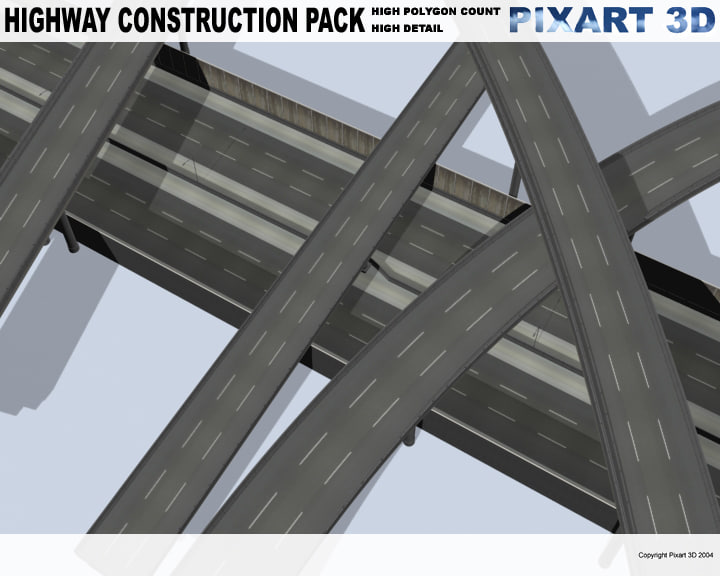 highway overpass 3d model