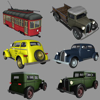 taxi oldtimers 3d max