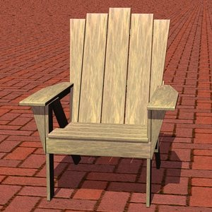 adirondack chair 3d 3ds