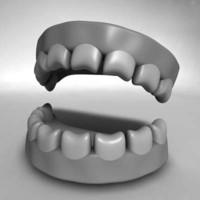 3d cartoon teeth
