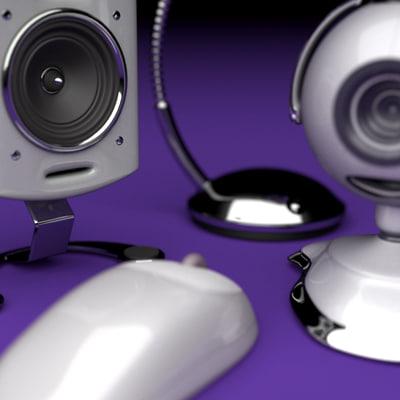 3d desktop webcam speakers desk lamp model