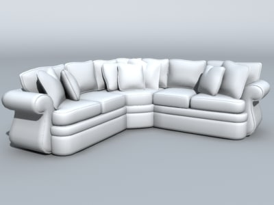 3ds max couch furniture