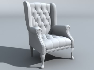 living room chair 3d 3ds