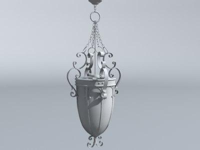 3ds max hallway chandelier