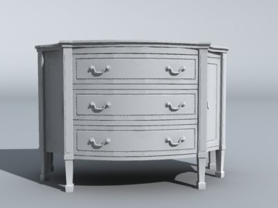 3d model dresser furniture