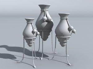 3d model decorative urns