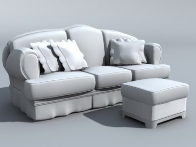 3dsmax couch