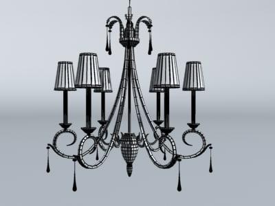 3d model of chandelier kitchen