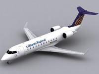 3d canadair regional jet lufthansa crj