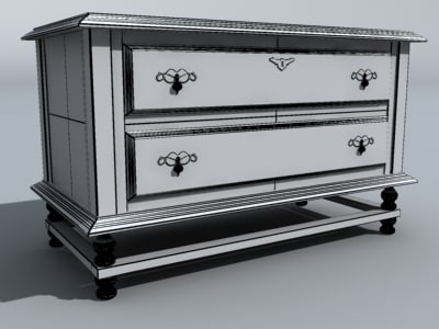 3d bedroom end table