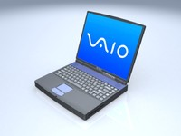 3d notebook sony vaio model