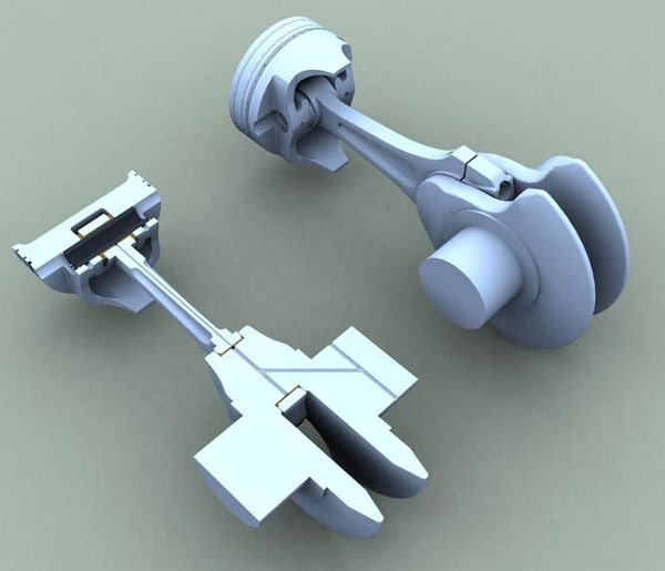 piston crank crankshaft 3d model