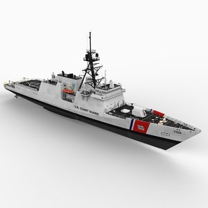 coast guard cutter ships 3d model