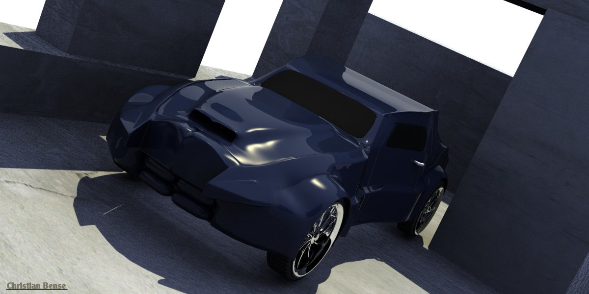 3d model of gangster concept car based