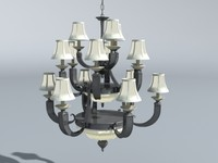 dining chandelier 3d max