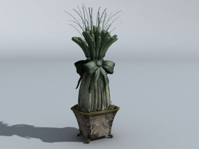 decorative dining plant 3d model