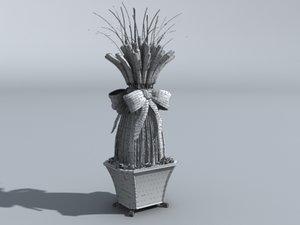 3d model dining plant