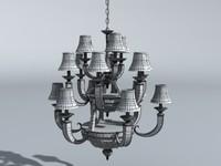dining room chandelier 3d obj