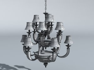 dining room chandelier 3d obj