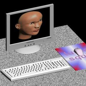 3d comp computer monitor
